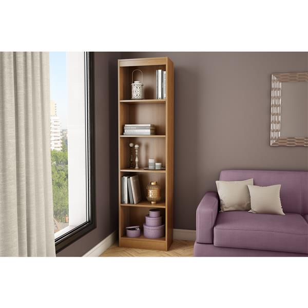 South Shore Furniture Axess 5-Shelf Narrow Bookcase - Morgan Cherry