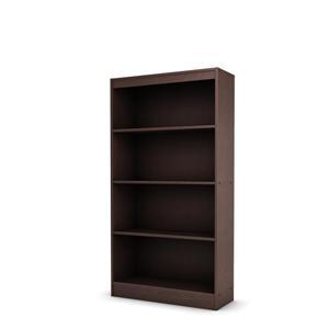 "South Shore Furniture Axess 4-Shelf Bookcase - 28"" x 11.5"" x 56"" - Chocolate"