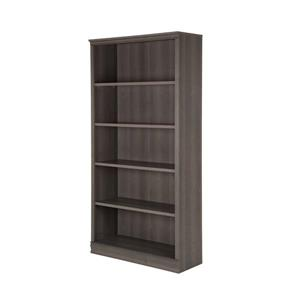Morgan 5-Shelf Bookcase - Gray Maple