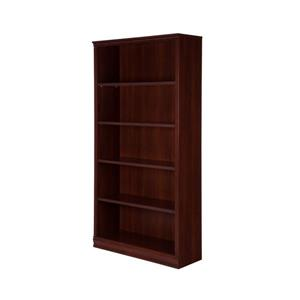 South Shore Furniture Morgan 5-Shelf Bookcase - Royal Cherry