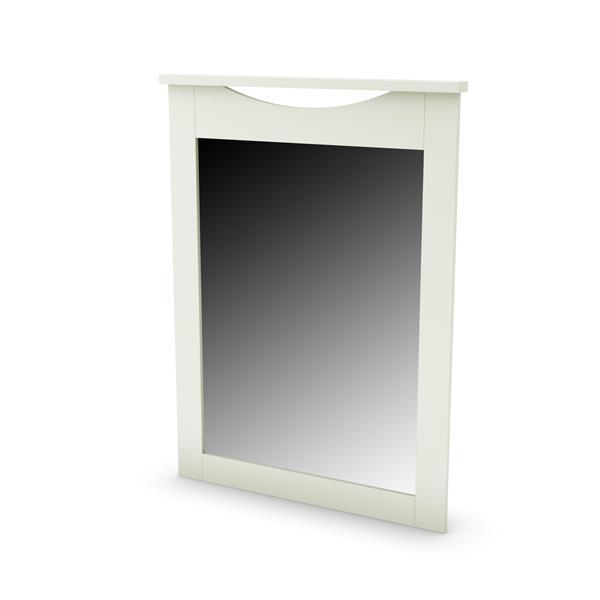 "Miroir Step One, 40,25"" x 30"" x 41"", blanc"