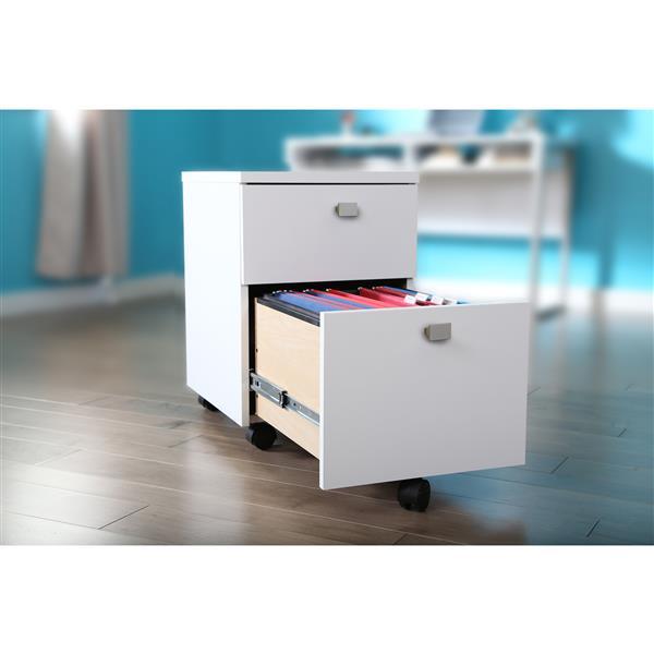 Classeur mobile 2 tiroirs Interface, blanc