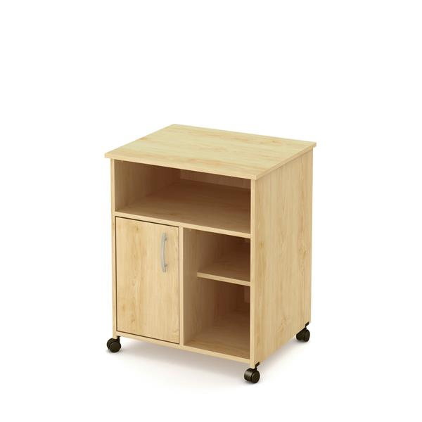 South Shore Furniture Axess Printer Cart - 23.5-in x 19.5-in x 29.37-in - Natural Maple