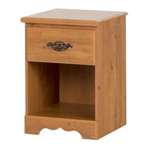South Shore Furniture Prairie 1-Drawer Nightstand - Country Pine