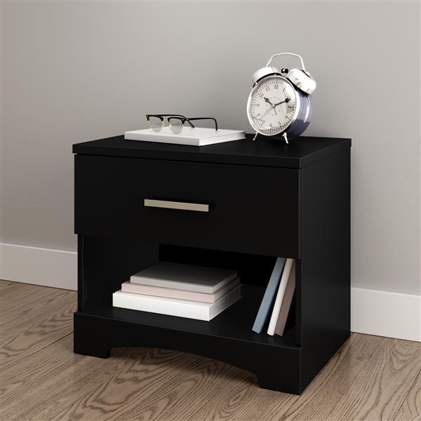 Table de chevet 1 tiroir Gramercy, noir