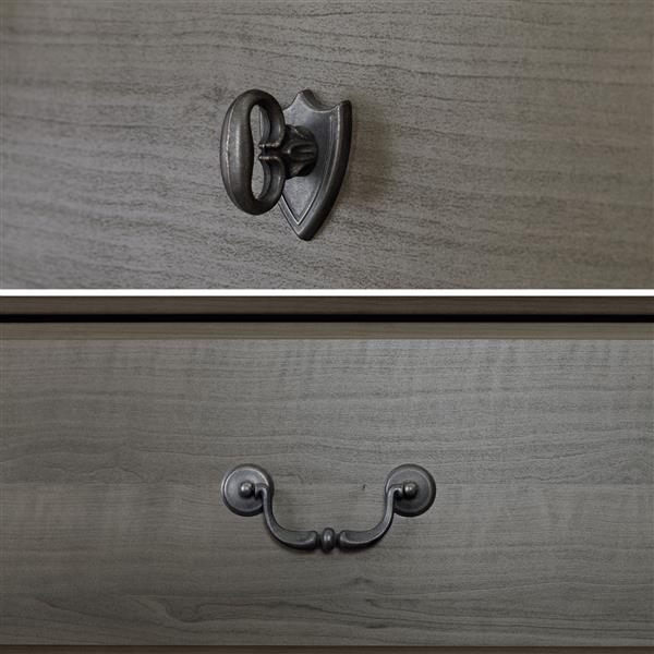 Table de chevet 2 tiroirs Vintage, érable cendré