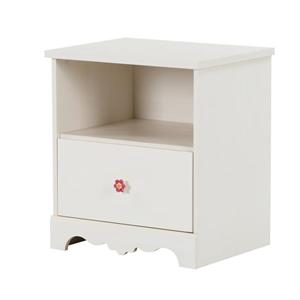 Lily Rose 1-Drawer Nightstand - White Wash