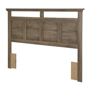 South Shore Furniture Versa Headboard - Full/Queen - Weathered Oak