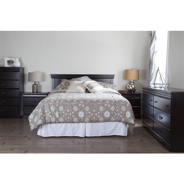 Tête de lit Vintage, double/grand, acajou foncé