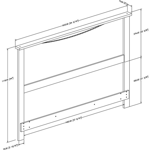 South Shore Furniture Step One Headboard - Full/Queen - White