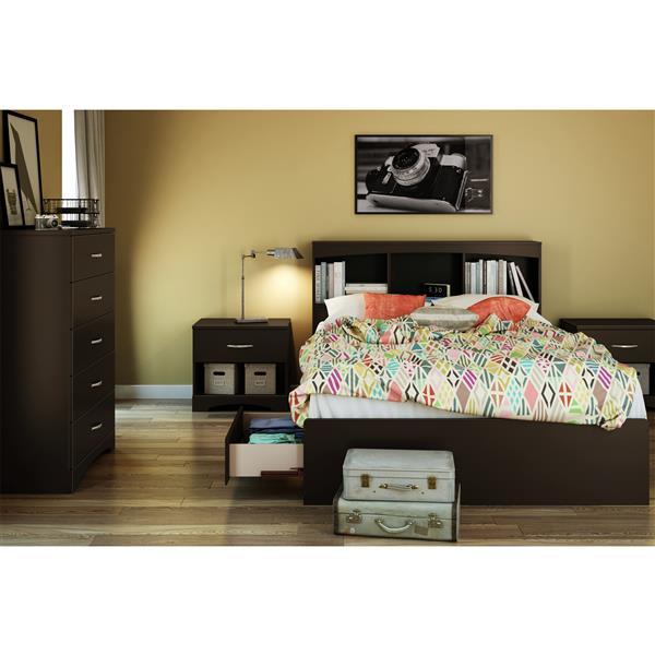 South Shore Furniture Step One Bookcase Headboard - Full - Chocolate