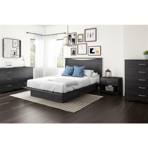 Tête de lit Step One, double/grand, chêne gris