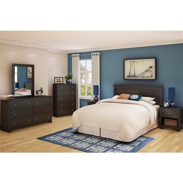 South Shore Furniture Vito Headboard - Full/Queen - Chocolate
