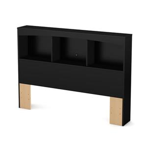 South Shore Furniture Step One Bookcase Headboard - Full - Black