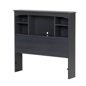 Tête de lit bibliothèque Aviron, simple, myrtille