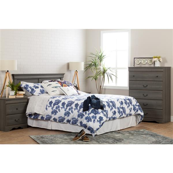 South Shore Furniture Vintage Headboard - Full/Queen - Gray Maple