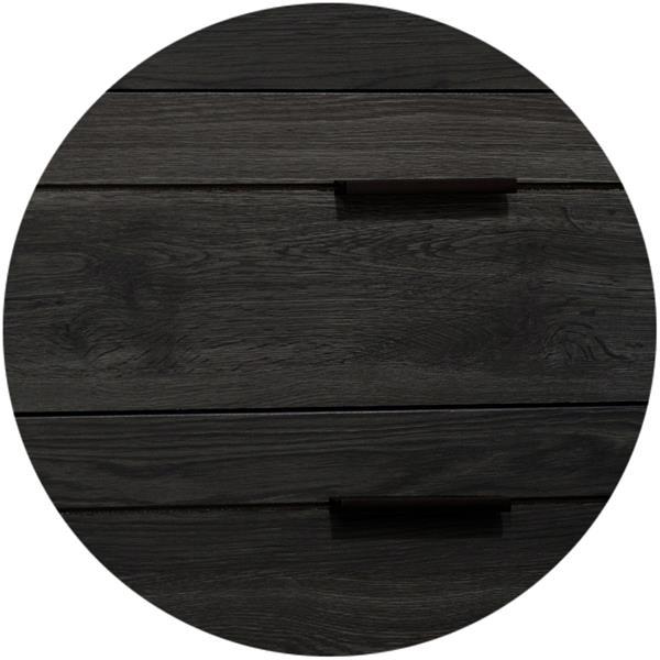 Bureau double 6 tiroirs Fynn, chêne gris