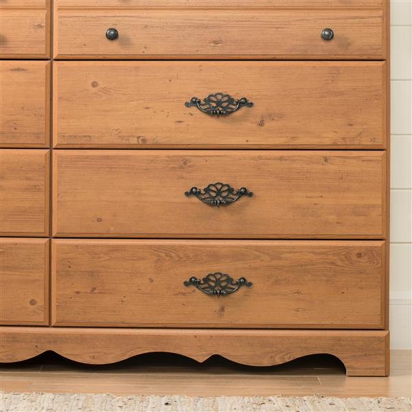 South Shore Furniture Prairie 6-Drawer Double Dresser - Country Pine
