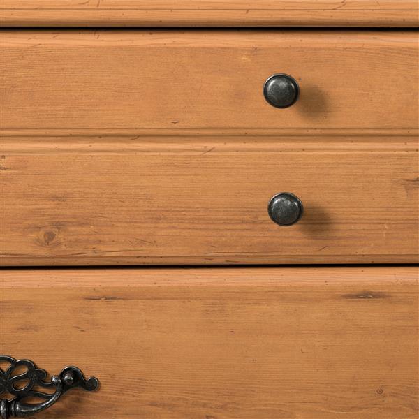 Bureau double 8 tiroirs Prairie, pin country