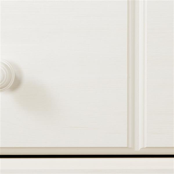 Bureau double 6 tiroirs Summer Breeze, blanc antique