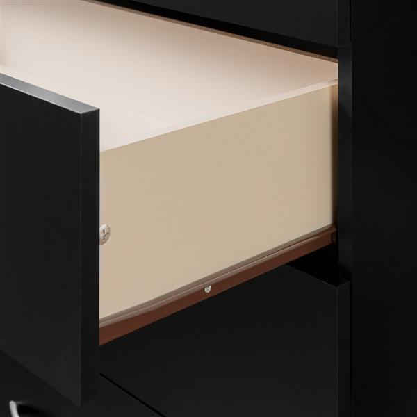 Bureau double 6 tiroirs Step One, érable naturel