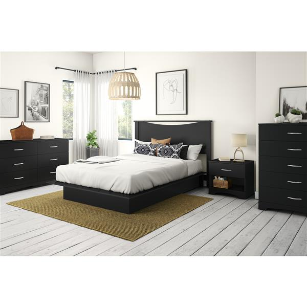 South Shore Furniture Step One 6-Drawer Double Dresser - Black
