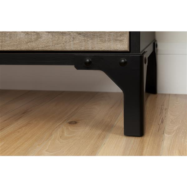 South Shore Furniture Valet 4-Drawer Double Dresser - Weathered Oak and Ebony