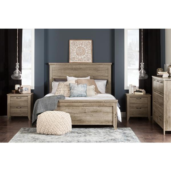 South Shore Furniture Lionel 9-Drawer Double Dresser - Weathered Oak