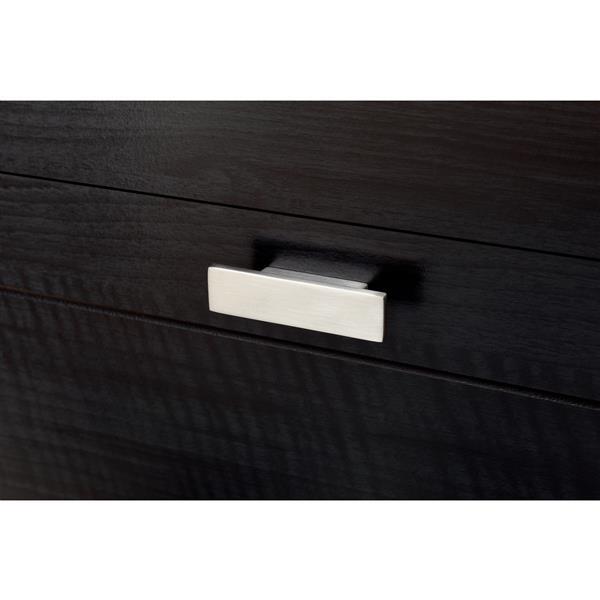 Bureau double 6 tiroirs Reevo, onyx noir