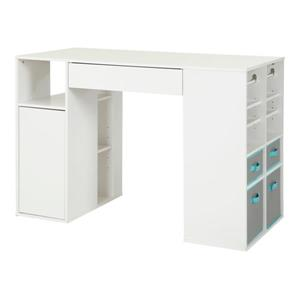 Ensemble table de travail Crea, blanc