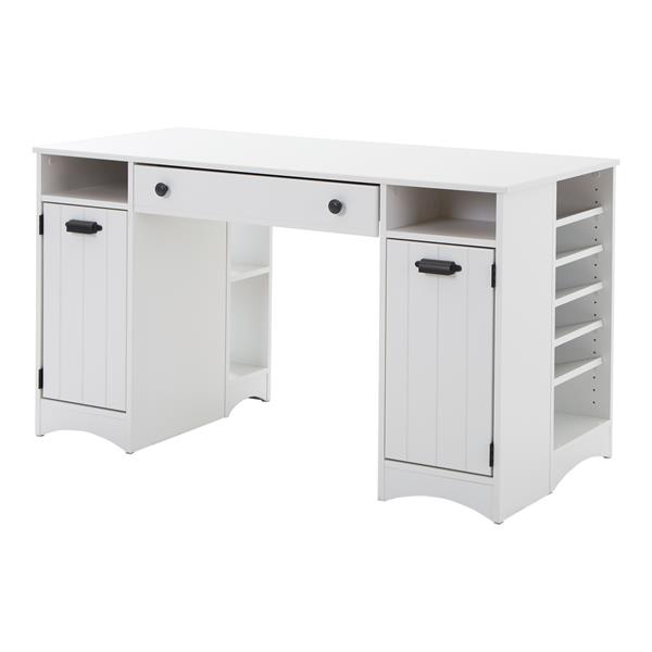 South Shore Furniture Artwork Craft Table With Storage 53 32 In X 23 6 In X 30 In White 7260727 Rona