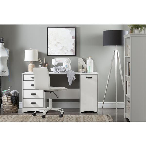 """Table de couture Artwork, 58,25"""" x 23,75"""" x 29,5"""", blanc"""