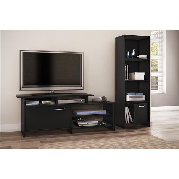 Meuble de télévision Step One de South Shore Furniture, noir, 54,51 po x 15,51 po x 20 po
