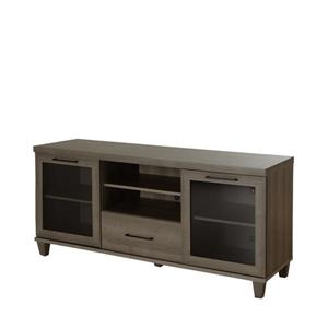 South Shore Furniture Adrian TV Stand - 59.5-in x 17-in x 27.75-in - Gray