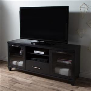 South Shore Furniture Adrian TV Stand - 59.5-in x 17-in x 27.75-in - Black