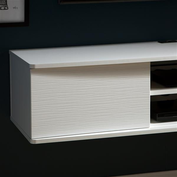 South Shore Furniture Agora Wall-Mounted Media Console - White