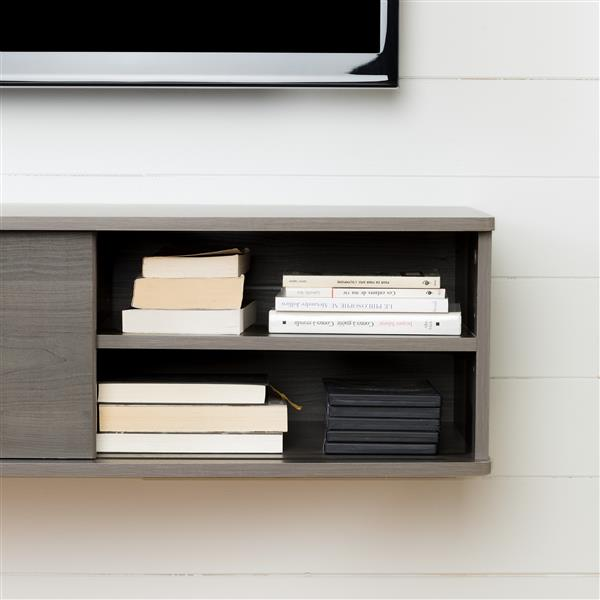South Shore Furniture Agora Wall-Mounted Media Console - Gray