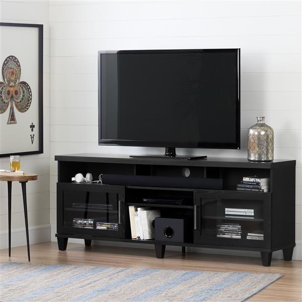 "Adrian TV Stand - 70.25"" x 16"" x 28"" - Black"