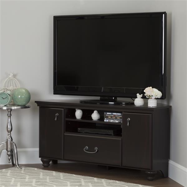 Meuble de télévision en coin Noble, noir