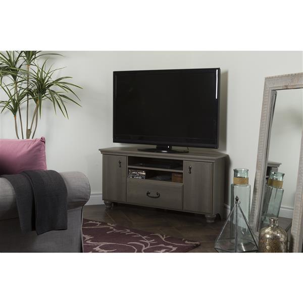 Meuble de télévision en coin Noble, gris