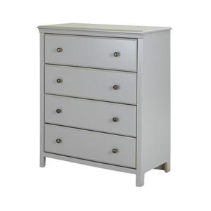South Shore Furniture Cotton Candy 4-Drawer Chest - 29.62-in x 19.37-in x 40-in - Gray