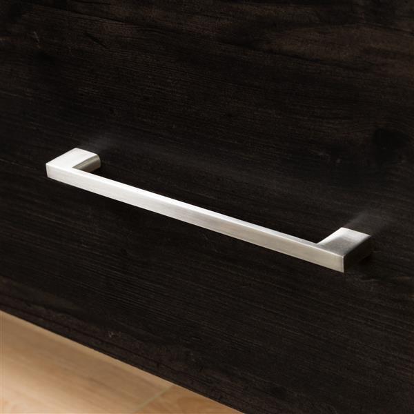 """Commode 5 tiroirs Gravity, 31,12"""" x 18,87"""" x 49"""", ébène"""