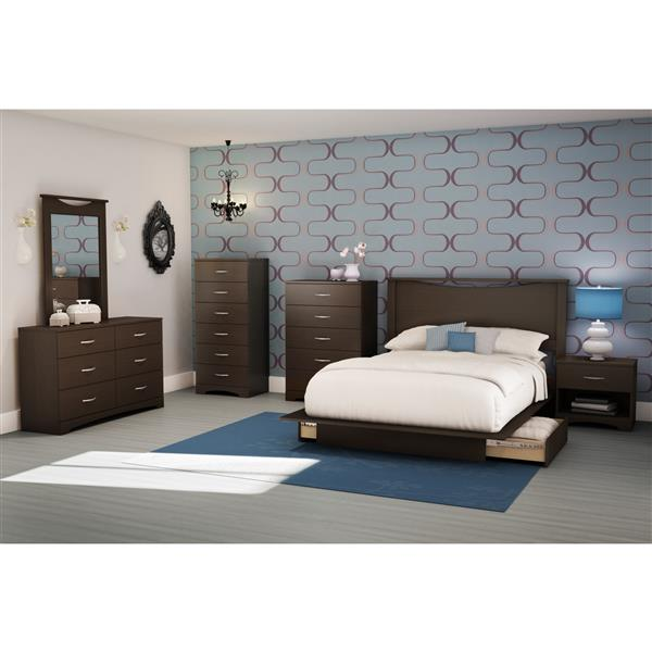 South Shore Furniture Step One 6-Drawer Lingerie Chest - 26-in x 19-in x 50-in - Chocolate