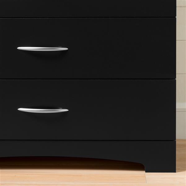 """Commode 5 tiroirs Step One, 33"""" x 19"""" x 42,5"""", chêne gris"""