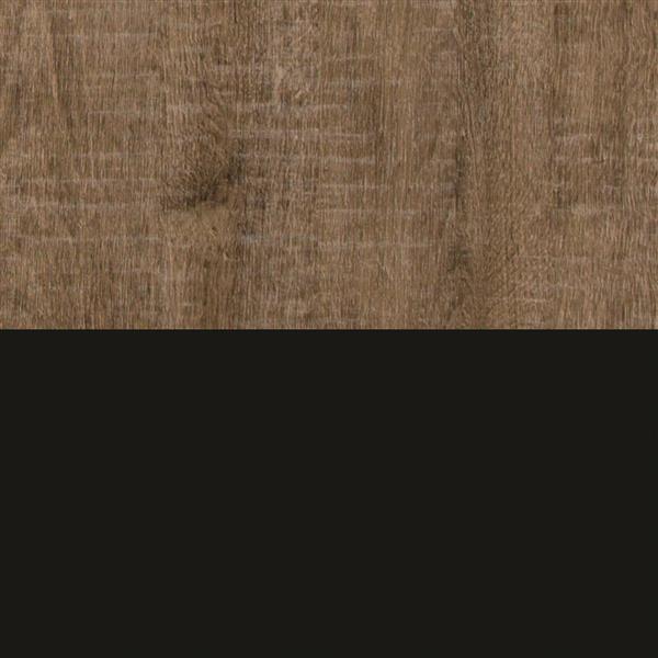 "Commode 5 tiroirs Munich, 31,25"" x 19"" x 49"", chêne et noir"