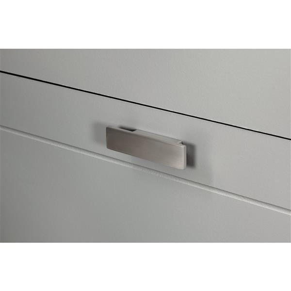 "Commode 4 tiroirs Reevo, 32,87"" x 18,87"" x 40,25"", gris"
