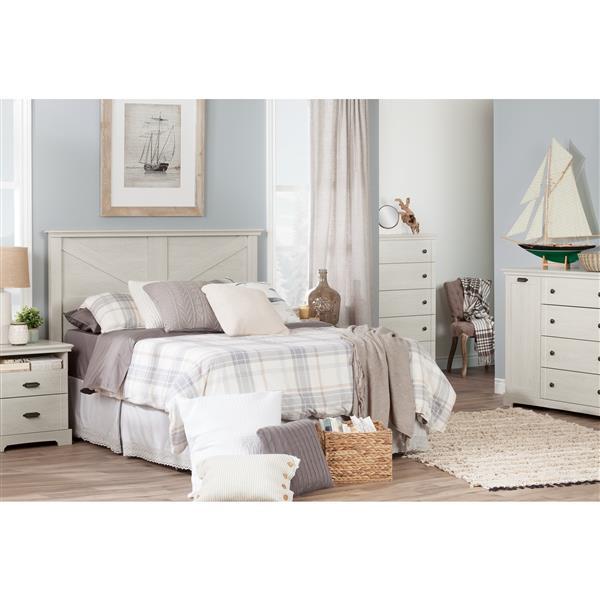 South Shore Furniture Avilla 5-Drawer Chest - 35.25-in x 19.5-in x 48.75-in - Winter Oak