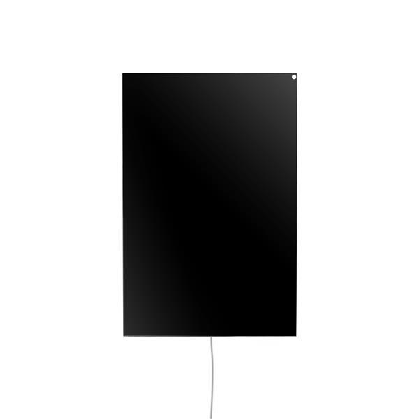 Panneau chauffant radiant sur prise Ember, noir, 600W
