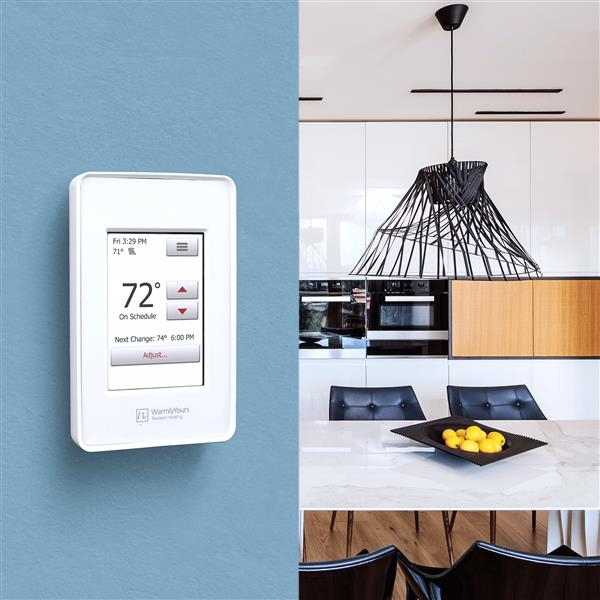 WarmlyYours nSpire Touch Thermostat Programmable with Floor Sensor