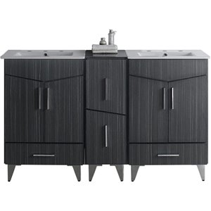 Zen Vanity Set  - Double Sink - 61.5
